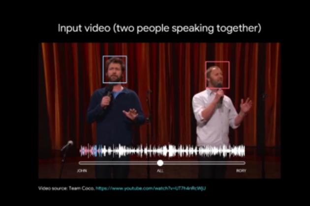 Google AI新技術:在吵雜影片中分辨特定人聲