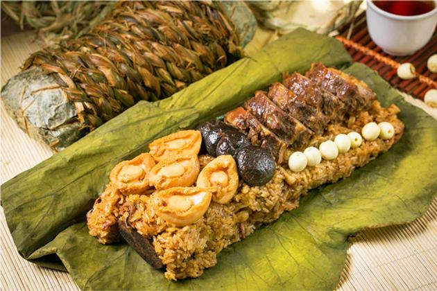 大地酒店推出海陸雙珍粽 稻香大地牛及頂級鮑魚入菜