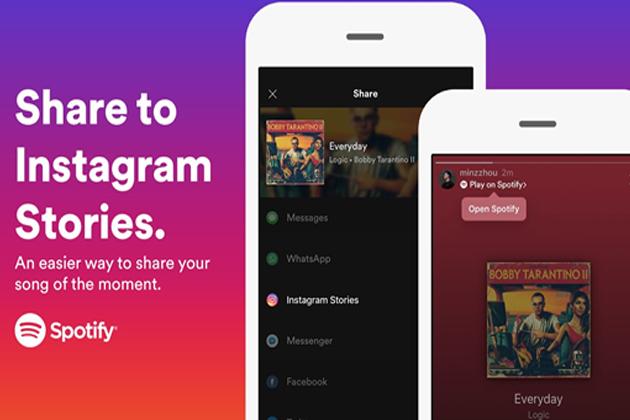 Spotify攜手Instagram推「音樂限時動態」與好友分享超方便!