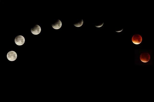 明晚超級月亮、藍月、月全食「一次看」 月面呈紅色1小時