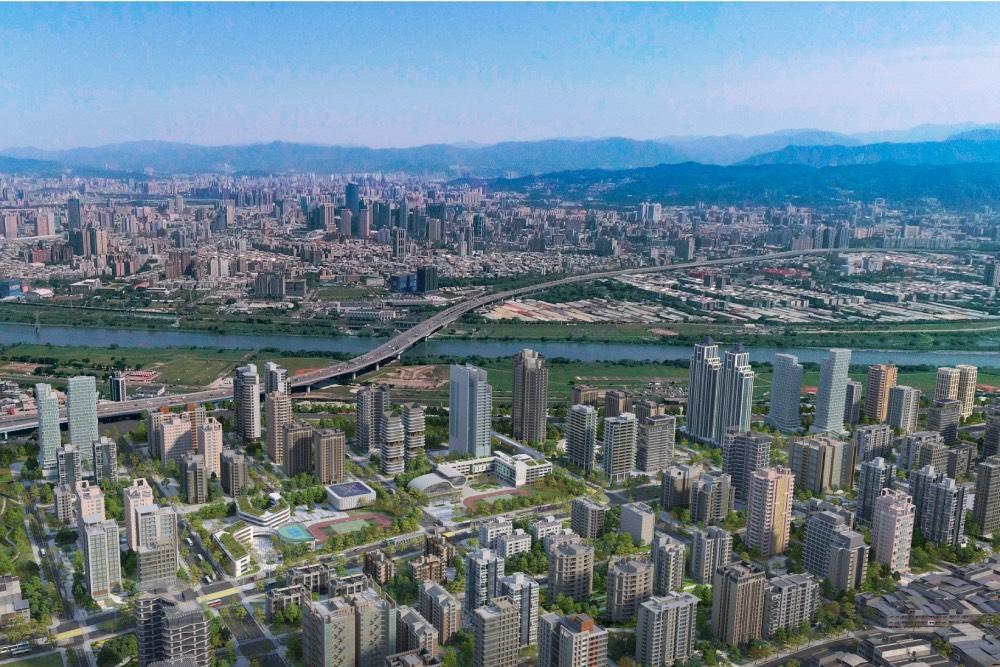 侯友宜視察塭仔圳重劃區工程 翻轉新北成大台北中心