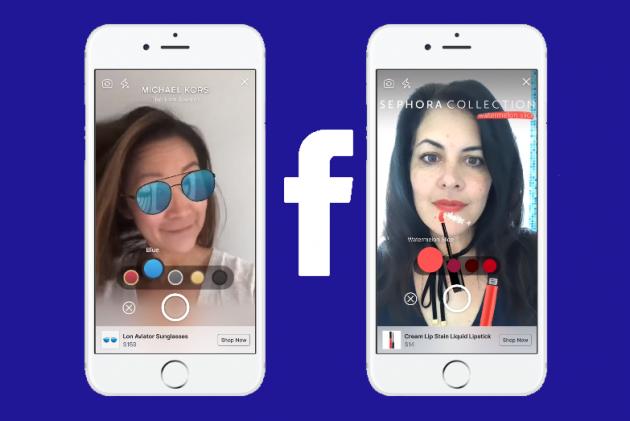「AR購物」讓你隔空試用商品!Facebook、亞馬遜、Snapchat都來參一咖
