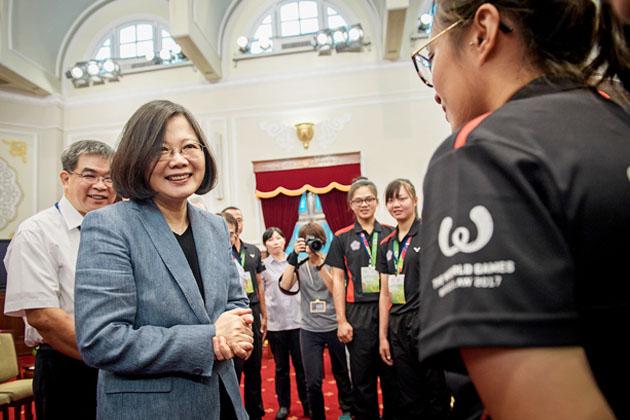 接見世運會得獎教練、選手 總統期勉世大運「榮耀留在台灣」