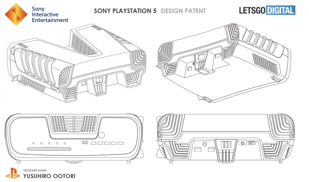 Sony新專利曝光!V字型凹槽又佈滿散熱孔洞…疑為PS5主機外觀設計