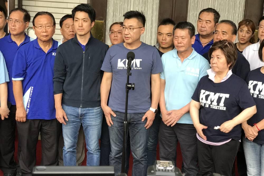 在野黨紛表態不滿通過表決  江啟臣:將提告民進黨多數暴力且表決作弊