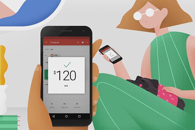 Android版Gmail可接收、支付款項,且免手續費