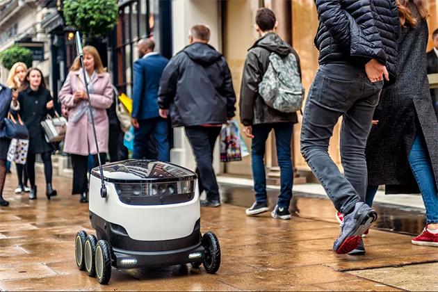 未來叫外送餐點,可能是機器人幫忙送到府!
