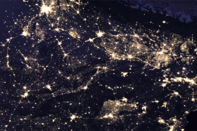 臺灣西部好亮!全球經濟發展現況就在NASA夜景圖