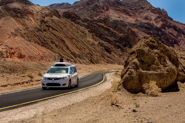 Waymo自駕車測試 打敗美國西部「死亡谷」酷熱