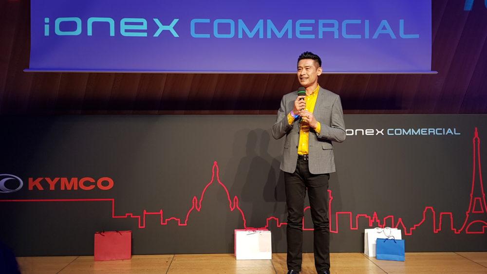 【有影】光陽ionex商業版巴黎亮相大成功!柯勝峯:發表是一個開始 未來還要更努力