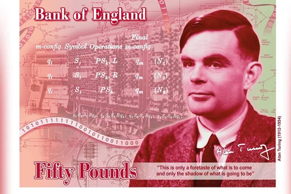 擊敗霍金!現代電腦之父「圖靈」將登英國50鎊新鈔