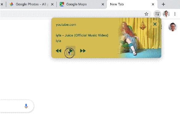 Chrome瀏覽器推新功能 「Media Hub」助民眾更快速控制所有音樂撥放