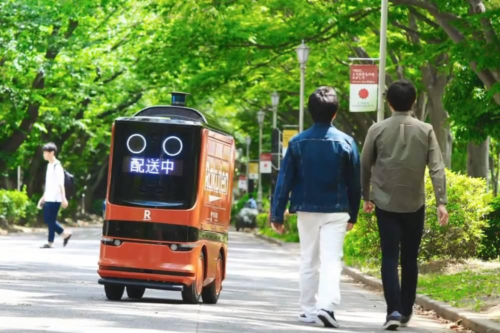 從公園開始練習!日本樂天攜手連鎖超級市場 推首台無人送貨車