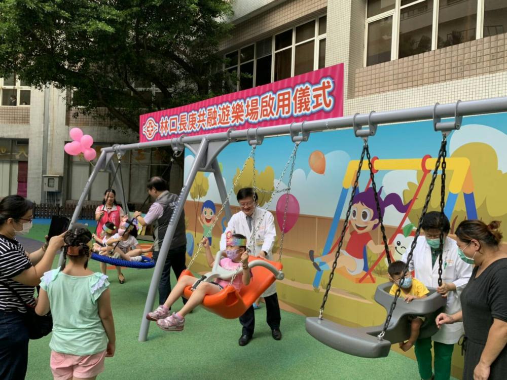 全台首見!大醫院蓋占地百坪「戶外遊戲場」  病童減壓還可刺激發展