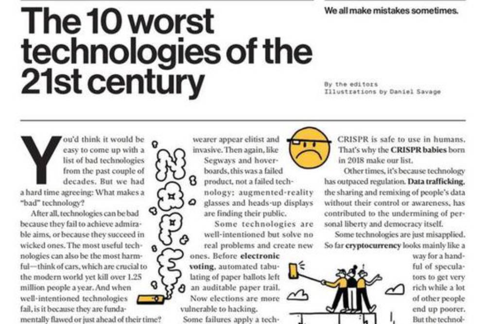 21世紀10大爛科技排行出爐 Google眼鏡跟「它」都上榜!