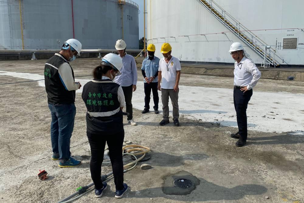 中油台中清水油管漏油污染土壤市府開罸