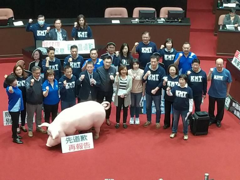 【有影】反萊豬/藍再占議場抗爭 訴求蘇貞昌道歉陳吉仲下台