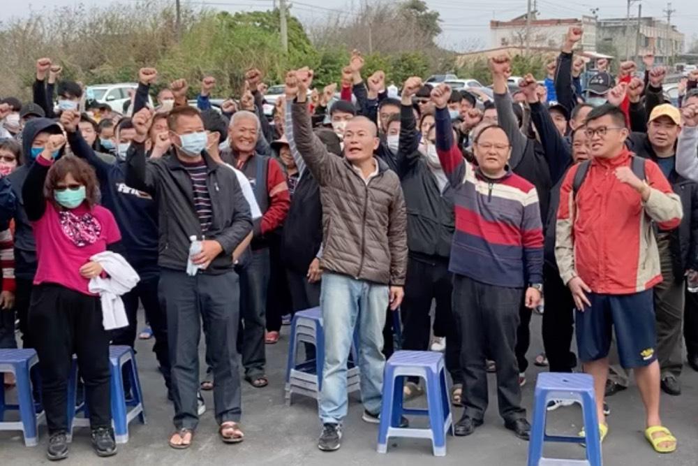 雲林四湖鄉親春節不安心 500人宣示反風車決心 要求風車滾出去