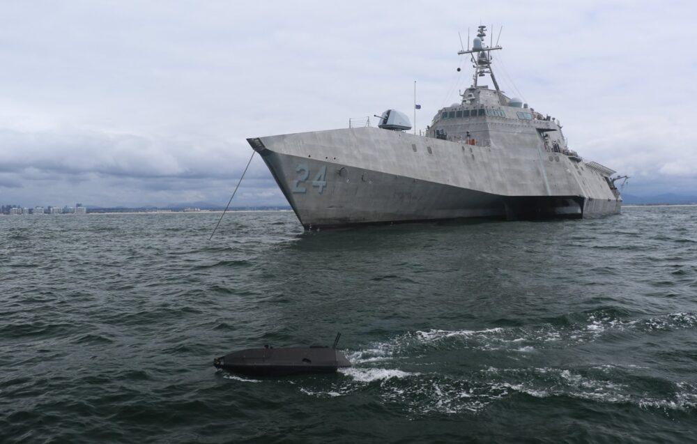 美軍太平洋艦隊罕見公布水面無人載具USV照片 部署海域未明