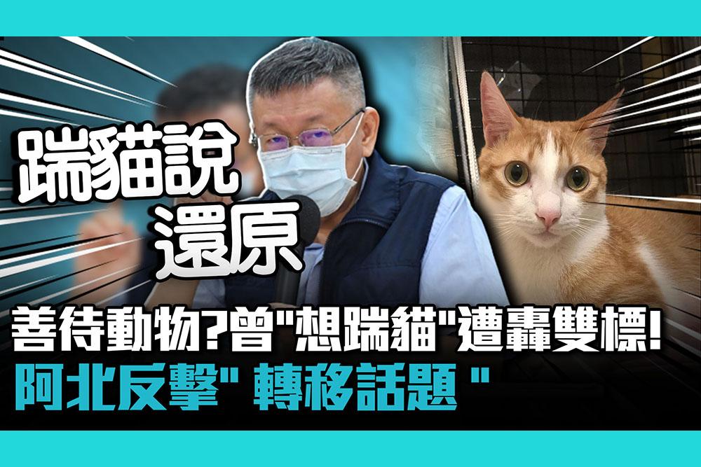 【疫情即時】善待動物?柯文哲曾「想踹貓」遭轟雙標!阿北反擊「轉移話題」