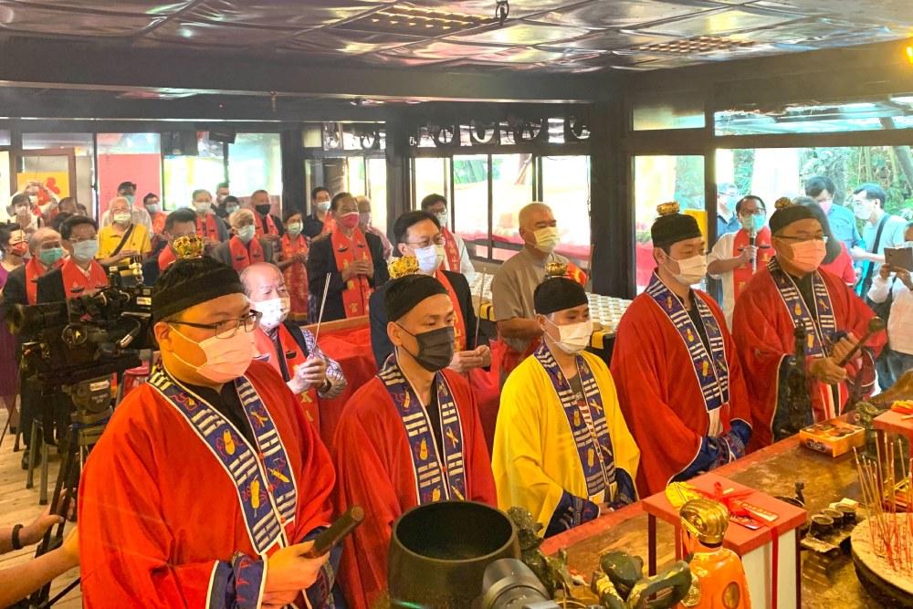 宗教堅定人心 姜太公道場老莊學院揭牌 點亮七星燈祈福除瘟