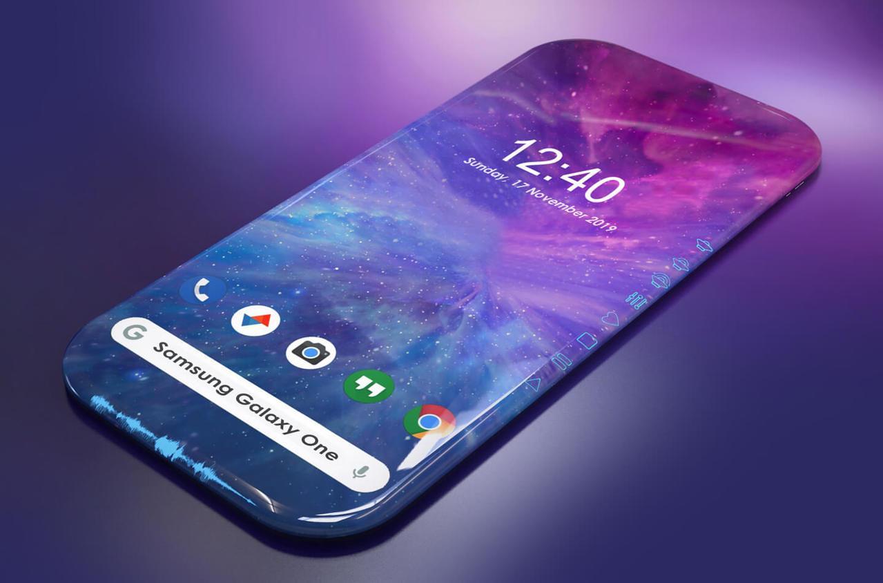 美到不行!疑三星「無邊際螢幕」手機設計曝光 實體按鍵全消失超科幻