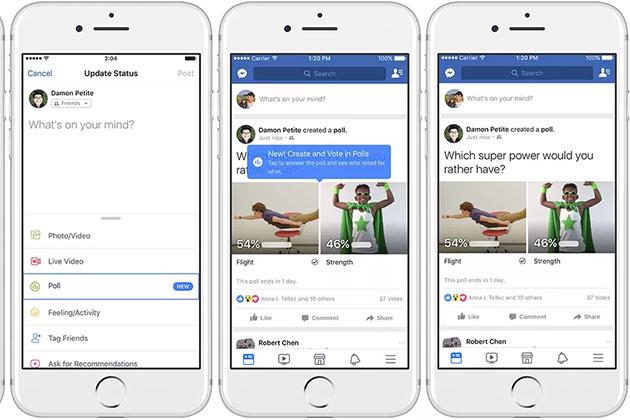 不用再靠表情符號!Facebook投票加入GIF動畫新功能