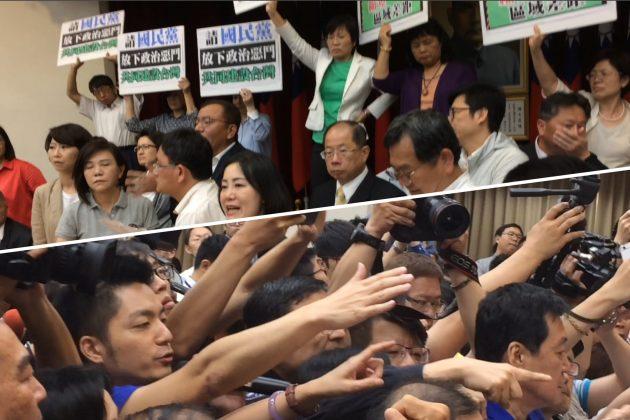 【圖輯】立院上演全武行,民進黨不顧異議保送6前瞻條例