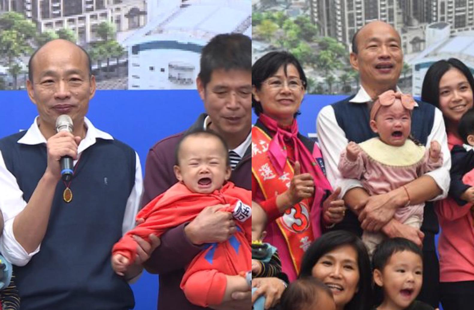 放過寶寶!韓國瑜狂親嬰兒醫生警告恐感染 作家批:別用孩童當政治宣傳道具