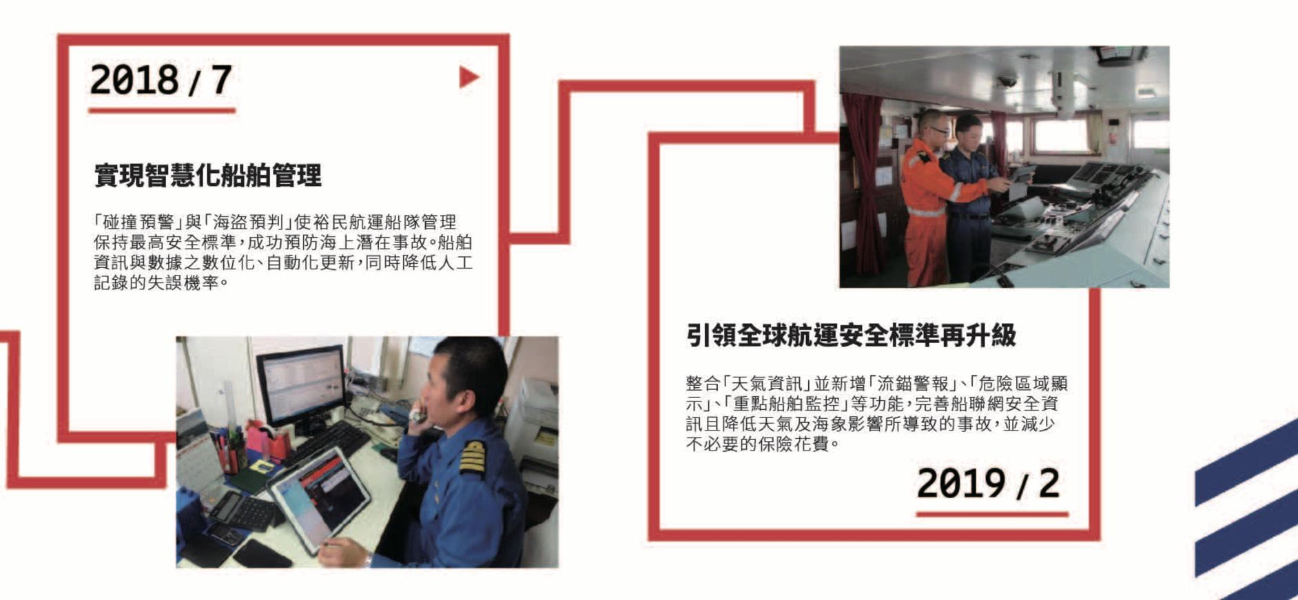 航運安全再升級!愛立信x裕民航運 新增天氣資訊 流錨警報 危險顯示功能