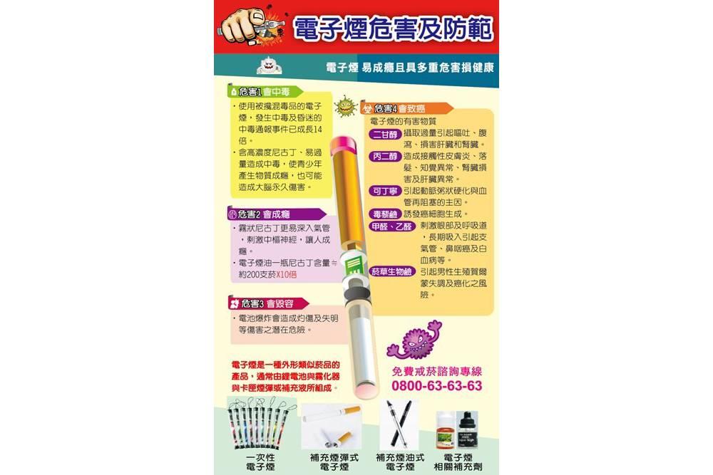 台中市新制訂「電子煙危害防制自治條例」